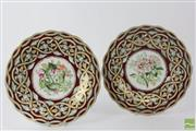 Sale 8533 - Lot 58 - Hanley Pair of Cabinet Plates by G. Lashworth & Bros