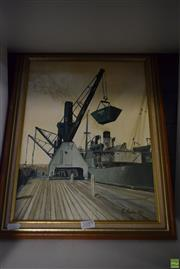 Sale 8569 - Lot 2089 - E Curtis Loading, Oil Painting, signed