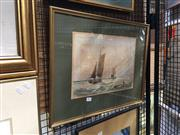 Sale 8752 - Lot 2005 - Artist Unknown - Seascape, watercolour (AF), frame size 43 x 54cm, signed lower right
