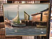 Sale 8779 - Lot 2049 - Artist Unknown - Marine, Oil on Board