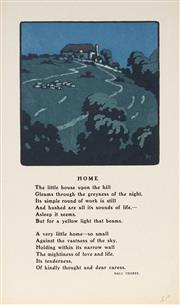 Sale 9078A - Lot 5088 - John Hall Thorpe (1874-1947) (5 works) - Home 14 x 13.5 cm (sheet: 29.5 x 17.5 cm)