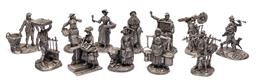 Sale 9170H - Lot 77 - A set of twelve fine pewter figurines of the Cries of london series, tallest Height 11.5cm