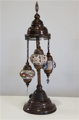 Sale 9255 - Lot 1124 - Moroccan style table lamp (h:86cm)