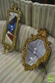 Sale 8284 - Lot 1051 - Gilt Framed Mirrors x 2