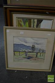 Sale 8491 - Lot 2046 - Group of (4) Original Landscape Paintings by Various Artists, framed, various sizes