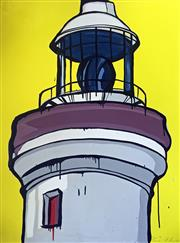 Sale 8507A - Lot 5009 - Jasper Knight (1974 - ) - Byron Bay Lighthouse 102.5 x 76cm
