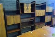 Sale 8528 - Lot 1085 - Rosewood 11 Piece 3 Bay Ladderax System