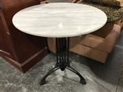 Sale 8942 - Lot 1084 - Round Marble Top Table with Waterproof Finish (H: 75 x D: 70cm)
