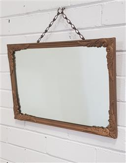 Sale 9151 - Lot 1186 - Gilt painted timber frame mirror ( 50 x 34cm)