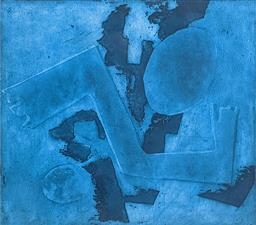 Sale 9257A - Lot 5059 - JAN ROWLEY (1941 - ) Blue Flight, c1970 etching and aquatint 34.5 x 38 cm (frame: 46.5 x 50 cm) signed lower right