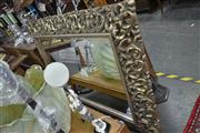 Sale 7981A - Lot 1026 - Large Decorative Silver Pierced Framed Mantel Mirror