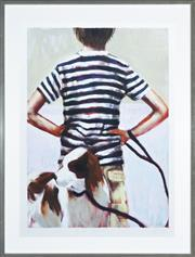 Sale 8296A - Lot 23 - Sophie Gralton (1966 - ) - Boy and Companion 90 x 63cm