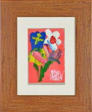 Sale 8349 - Lot 528 - Kevin Charles (Pro) Hart (1928 - 2006) - Still Life - Flower 13 x 9cm