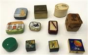 Sale 8436A - Lot 86 - A group of eleven miscellaneous pill boxes and casou tins.