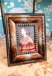 Sale 8577 - Lot 44 - Decorative wooden photo frame - Condition: As New - Measurements: 27cm high x 21cm wide