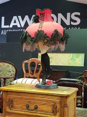 Sale 8657 - Lot 1028 - Cabaret Themed Table Lamp