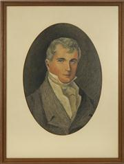 Sale 8716 - Lot 2073 - After Edward Hall - Portrait of Simeon Hall 49 x 34.5cm