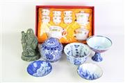 Sale 8902C - Lot 672 - Collection of Oriental Wares inc a boxed tea set, ginger jar, and others