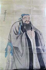 Sale 8948 - Lot 31 - A Chinese Picture of An ElderSealed in Folder (130cm x 63cm)