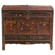 Sale 9020H - Lot 8 - A large Chinese Antique Qinghai dome top chest, the hinged lid reveiling a generous void over two drawers, height 103, width 75, dep...