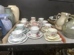 Sale 9101 - Lot 2414 - Collection of Duos & Trios incl. Royal Doulton, Royal Albert, Shelley & others