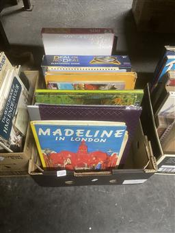 Sale 9106 - Lot 2326 - Box of Childrens Books & Games incl L.Bemelmans Madeline in London 1992 Andre Deutsch