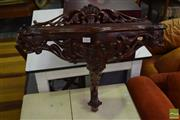 Sale 8532 - Lot 1364 - Carved Mahogany Hall Console
