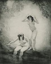 Sale 8907 - Lot 539 - Norman Lindsay (1879 - 1969) - The Pool, 1924 25 x 19 cm