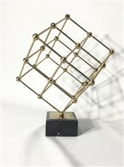 Sale 9080G - Lot 44 - Modernist Sculpture on Marble Base,made from metal,marble base. General Wear. Size 38cm H .