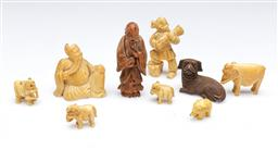 Sale 9098 - Lot 42 - A Collection of Chinese Bone miniatures