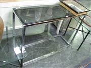 Sale 7932A - Lot 1125 - Hall Table With Black Glass Top