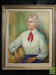 Sale 8468 - Lot 2026 - Framed Portrait of a Lady; signed Molly Garland LL