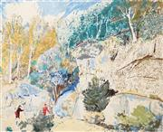 Sale 8484 - Lot 522 - Lloyd Rees (1895 - 1988) - Edge of the Forest 64 x 74.5cm