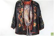 Sale 8486 - Lot 99 - Chinese Early Silk Gown And a Japanese Scarf