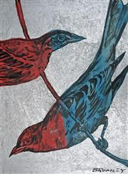 Sale 8507A - Lot 5012 - David Bromley (1960 - ) - Birds 100.5 x 75cm