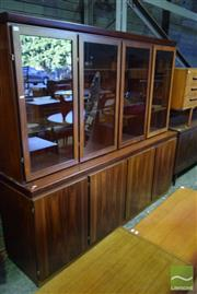 Sale 8550 - Lot 1032 - Superb Skovby Rosewood Two Piece Bookcase