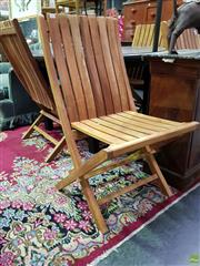 Sale 8562 - Lot 1047 - Set of Four Brand New Teak Fold Out Chairs