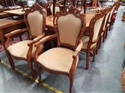 Sale 8717 - Lot 1086 - Large French Style Extension Dining Table with 8 Carved Chairs