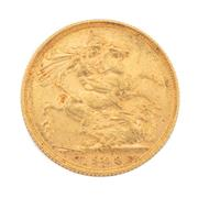 Sale 8855H - Lot 55 - 1908 gold sovereign weight approx 7.95g, S above 1908