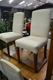 Sale 8115 - Lot 1060 - Set Of Six White Upholstered Dining Chairs