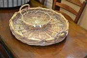 Sale 8115 - Lot 1186 - Round Cane Tray & Another