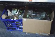 Sale 8189 - Lot 2173 - 2 Boxes Of Various Glass Ware Inc Early Bottles