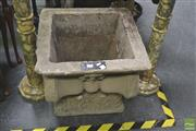 Sale 8272 - Lot 1016 - Concrete Square Form Urn