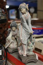 Sale 8300 - Lot 48 - Lladro Set of Two Geisha Figures (damage to fingers of one)