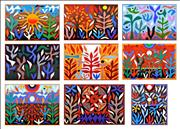 Sale 8350E - Lot 31 - John Coburn (1925 - 2006) (9 works) - The Seasons, 1988 (Folio) various sizes