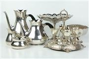 Sale 8422 - Lot 80 - Danish Silver Plated Tea & Coffee Set with Other Plated Wares
