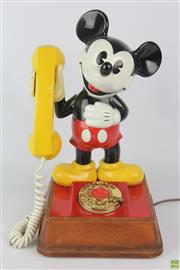 Sale 8608 - Lot 30 - Mickey Mouse Rotary Dial Telephone (Working) H:38cm