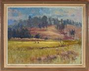 Sale 8955A - Lot 5057 - David Fowler (1924 - 1971) - On the Golf Course 49 x 58.5 cm (frame: 56 x 69 x 4 cm)
