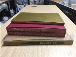 Sale 9152 - Lot 2442 - Group of Folio Society Books: Beowulf; The Rubatyat of Omar Khayyam, Throu8gh the Looking-Glass; Alices Adventures in Wonderla...