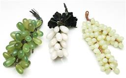 Sale 9255S - Lot 59 - A set of 3 bunches of faux stone grapes, Length 20cm